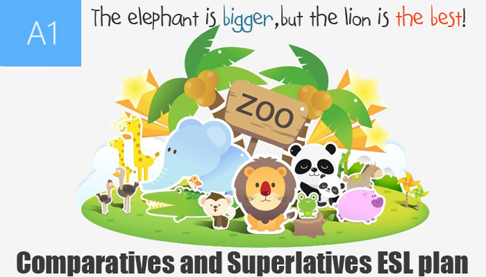 A1 Beginner English Lesson Plan - Comparative and Superlative Adjectives - At The Zoo